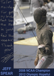 Jeff Spear Olympic Fencing 2012